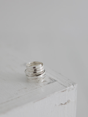 (silver 925)interlocking band ring