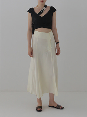 button silky skirt(yellow,lilac!)