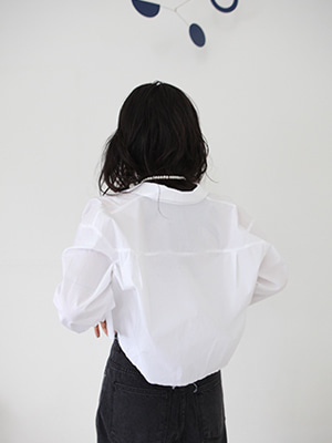 cropped cotton shirts(white,black!)