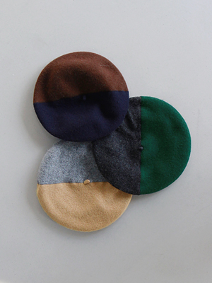 colour block beret(3colours!)